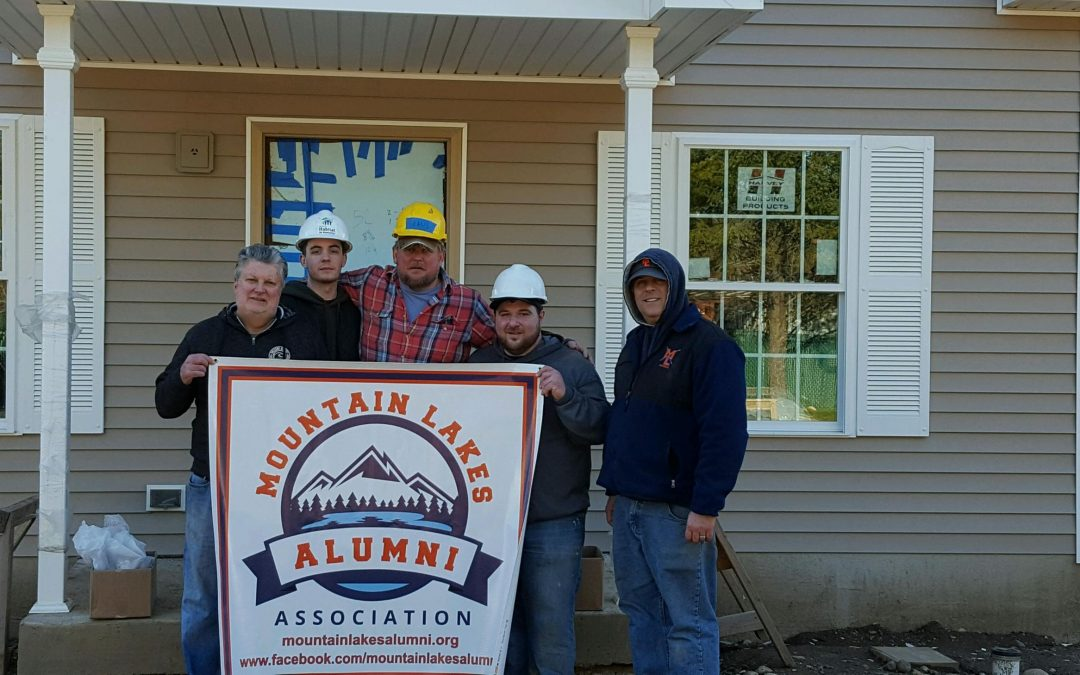 Mountain Lakes Alumni Association Volunteers With Habitat For Humanity!